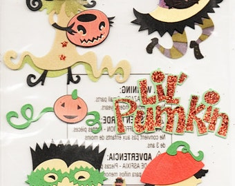Lil Pumkin Halloween  Jolee's Boutique Scrapbook Stickers Embellishments Cardmaking Crafts