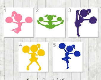 Cheerleader Decal, Cheer Decal, Cheer Team Gifts, Cheer Monogram, Cute Cheer Decal, Cheer Car Decal, Cheer Tumbler Decal, Cheerleader Gifts