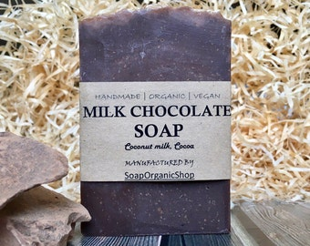 Chocolate soap Coconut soap Natural soap Chocolate Natural soap Natural Bath Products Shea soap Vegan Soap milk Hers gift Women soap