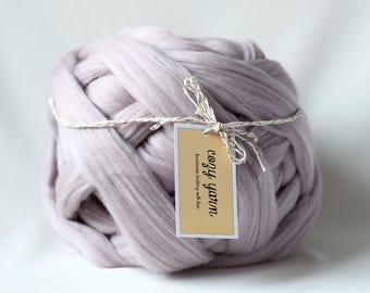 Super Chunky Yarn, Merino Wool Roving, Chunky Knit, Arm Knitting Wool, Big Stitch Knit, Felting, Bulky Yarn, Thick Yarn, Merino Wool