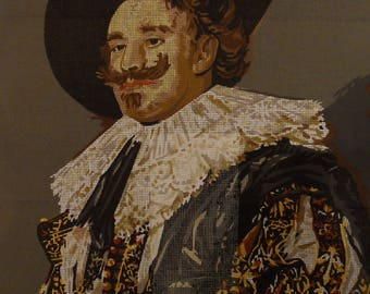 Outstanding Super-size 67 x 48 cms Printed Antique Canvas - Laughing Cavalier