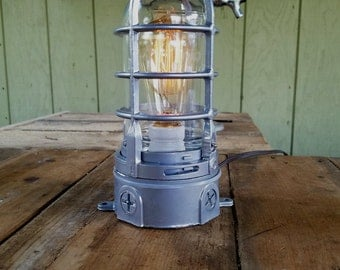 Industrial Table Lamp w/ touch dimmer