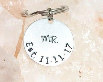 Mr. Keychain, Gift for Him, Wedding Gift, Anniversary Gift, Gifts for Men, Groom, Husband, Bridal Shower