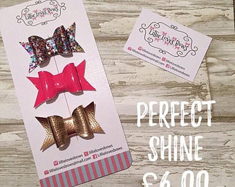 Perfect shine hair bow collection