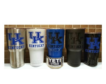 YETI - Authentic - KENTUCKY UK Wildcats Yeti Cup 20 oz 30 oz Rambler Tumbler Yeti Mug Cup University of Kentucky Fan Gift Wildcats 20oz 30oz
