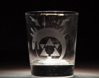Full Metal Alchemist Homunculus Etched Glass