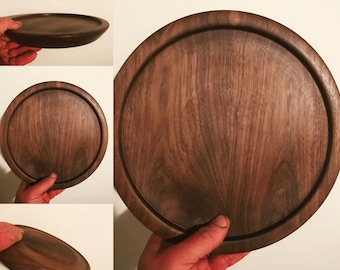 11 Inch Black Walnut Platter