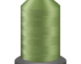 celery green thread, glide trilobal polyester no 40, Tex 27, sewing thread, quilting thread, 1000m cone