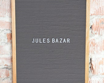 Letterboard - Grey Felt - 40x51cm - with 290 characters