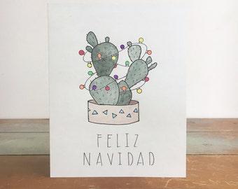 Handmade Feliz Navidad Card