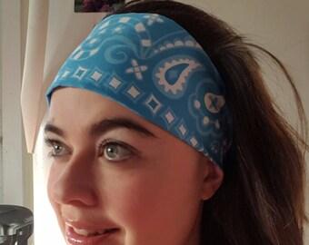 Soft Blue Kerchief Paisley