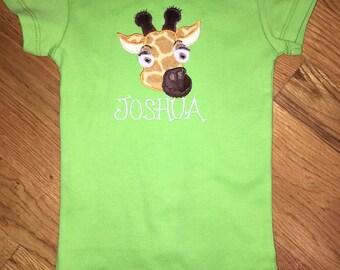 Giraffe onesie for baby boy or girl