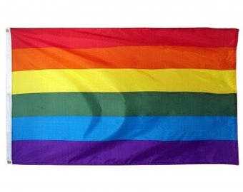 Rainbow Flag only 8.99!  Top selling flag on etsy! SALE shipping same day! 3x5 feet LGBTQ Gay Pride polyester with two metal grommets