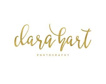 Gold Photography Logo Design / Cursive Logo / Gold Script Logo / Modern Logo / Simple Logo / Gold Logo / Gold Blog Logo / Designer Logo