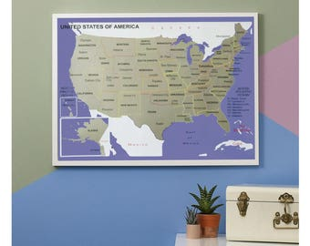 The Perfect Gift Scratch Off Us Map Us Scratch Off World Map Scratch