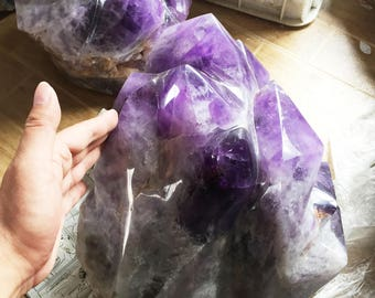 Extra Large Large Natural Amethyst Point/Amethyst/Amethyst Cluster/Amethyst Quartz/Raw Amethyst