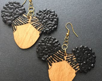 Camille Afro Puff Earrings