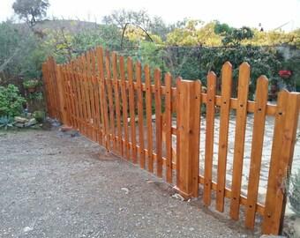 Fences of wood