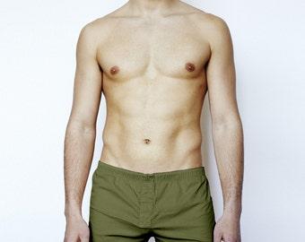 YUASA Mens Short Boxers - Olive