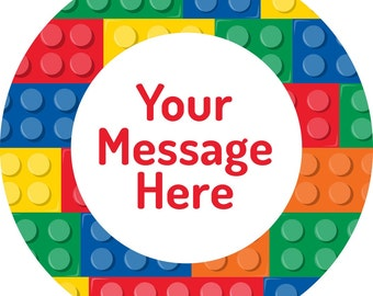 """Lego Personalized 3"""" Stickers"""