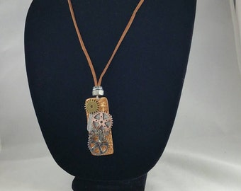 Copper Steam punk pendant