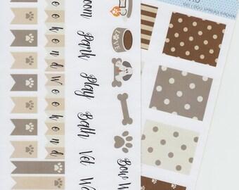 Puppy Doggy Spread | 1002 | Planner Sticker | Kikki-K | Happy Planner | Erin Condren
