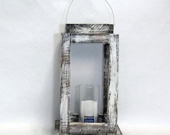 1 Small Shabby Chic White Wedding Lantern