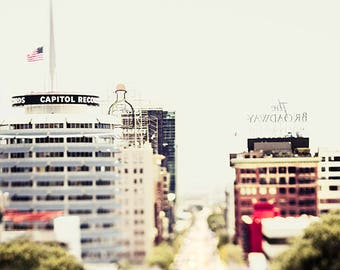 Capitol Records art print, Hollywood photography, Los Angeles print, Capitol Records photography,  Hollywood Blvd Print, cityscape music