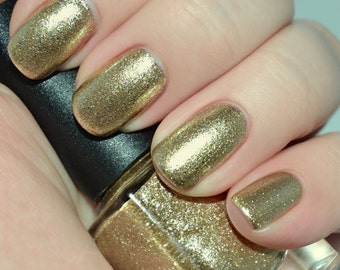 Dome Dazzle - Gold Chrome Metallic Nail Polish
