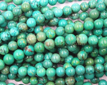 "Tibet Turquoise Beads, 6mm 8mm 10mm Full Strand 15.5"", Gemstone Beads, Healing Beads, Beading Suppliers, Jewelry Suppliers"