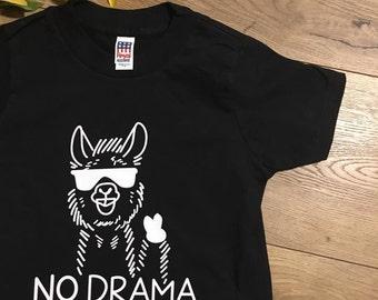 Kid's No Drama Llama Shirt