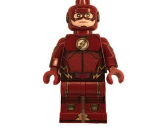 LEGO Minifigures Custom -  The Flash Made with Original LEGO Parts