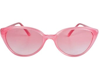 Vintage cat eye sunglasses, made in France in the 1970s by Argos. Rare pink sunglasses for women can be converted into prescription glasses.