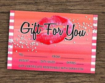 LipSense Gift For You Card, LipSense Business Card, Customized LipSense Card, SeneGence Card, 4x6 Personalized LipSense Gift Card