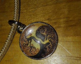 """Necklace Cork ' tree of life ' """""""