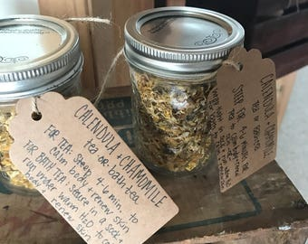 Calendula + Chamomile {tea or bath tea}