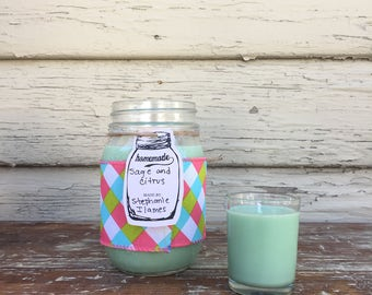 Sage and Citrus Soy Candle