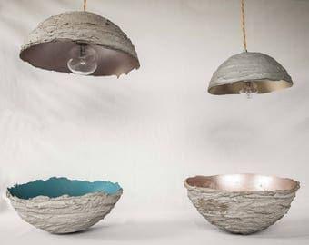 Lunar light fixtures/chandeliers cement