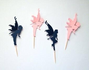 Fairy Party Cupcake Topper, Fairy Cupcake Picks, Fairy Birthday Decor