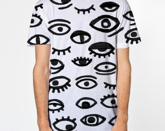 All Eyes On Me, Tee shirt, all over print, pattern sublimation printed front and back, t-shirt