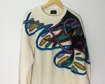 SANTA FE Embroidered Sweatshirt Crew Neck XL Size