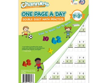 Channie's One Page A Day Double Digit Visual Math Workbook for 1st - 3rd Graders