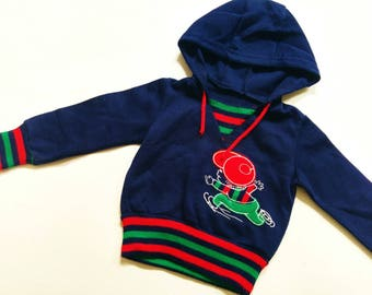 BOYs SwEaTeR hoodie 2Y RetRo OldSchOoL VinTage HipSter sweater 80 baby boy