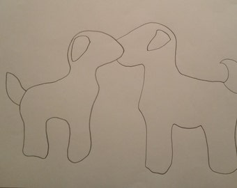 Personalised Embracing Puppies Pattern