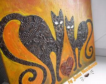 Funny Henna Cats