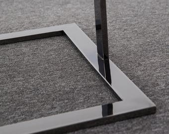 """Coffee Table /Square Glass Contemporary Coffee table / Stainless Steel /End table/ Height 19"""" / Ivadecorstudio/ designer table/ coffee table"""