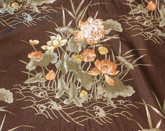 "Vintage 5th Avenue ""Lynnebrook"" pattern with Butterflies and Lotus. Choose dark green or brown"