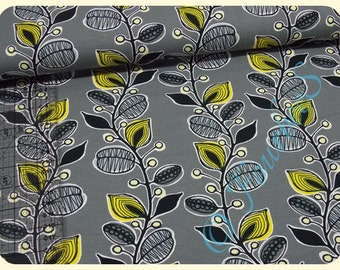 Flowers grey/yellow Jersey 0, 5m