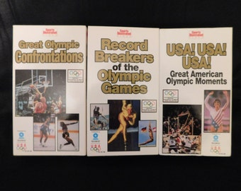 Olympic VHS Tapes - 3 Tapes:  Great American Olympic Moments, Great Olympic Confrontations, Record Breakers of the Olympic Games
