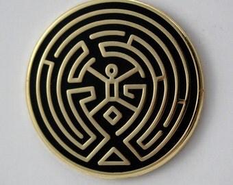 Westworld Maze Enamel Pin
